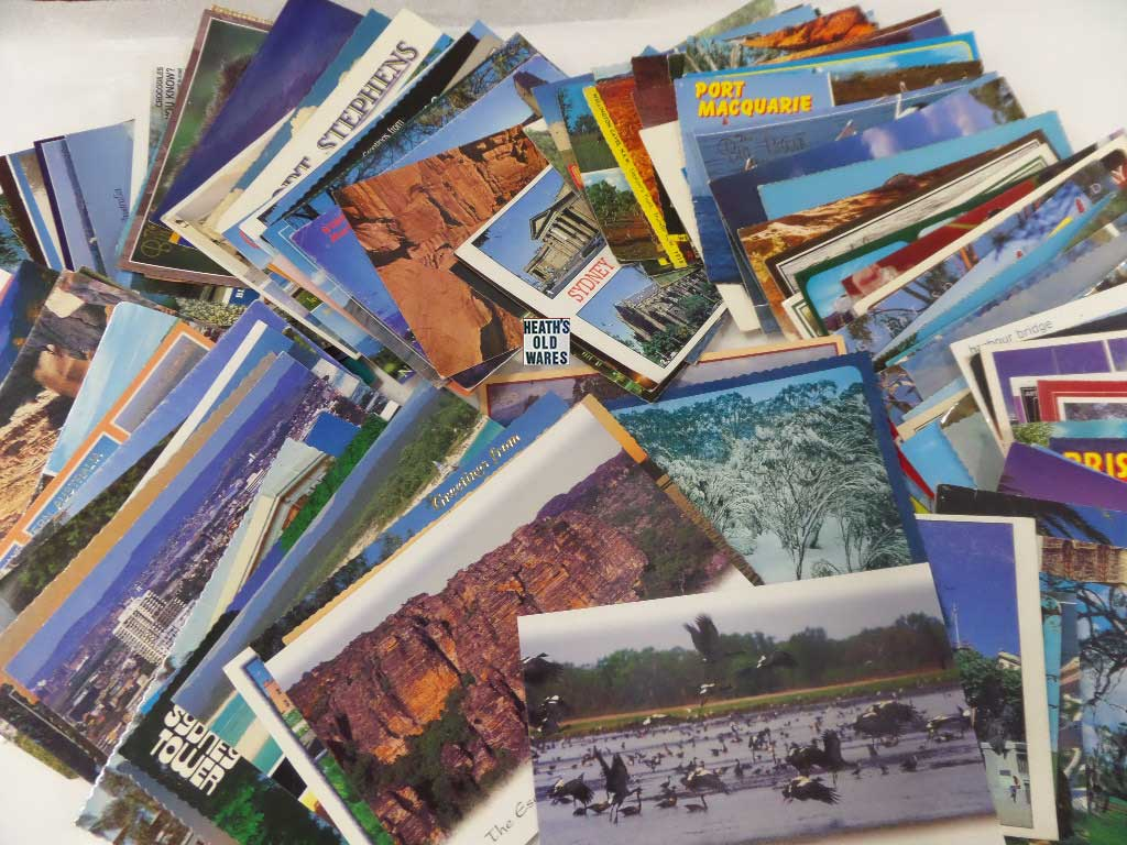 Assorted Australian Vintage Postcards for sale at Heaths Old Wares, Collectables, Antiques & Industrial Antiques, 19-21 Broadway, Burringbar NSW 2483 Ph 0266771181 open 7 days