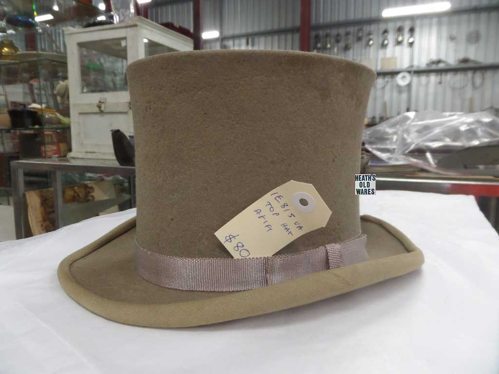 Vintage Top Hat for sale at Heaths Old Wares, Collectables, Antiques & Industrial Antiques, 19-21 Broadway, Burringbar NSW 2483 Ph 0266771181 open 7 days