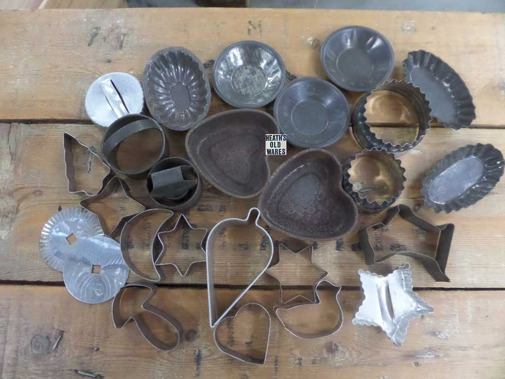cookie cutters for sale at Heaths Old Wares, Collectables, Antiques & Industrial Antiques, 19-21 Broadway, Burringbar NSW 2483 Ph 0266771181 open 7 days
