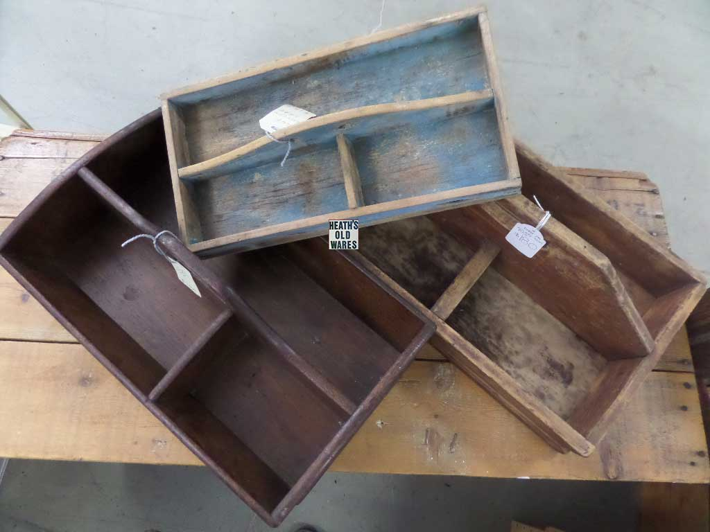 vintage and antique cutlery boxes for sale at Heaths Old Wares, Collectables, Antiques & Industrial Antiques, 19-21 Broadway, Burringbar NSW 2483 Ph 0266771181 open 7 days