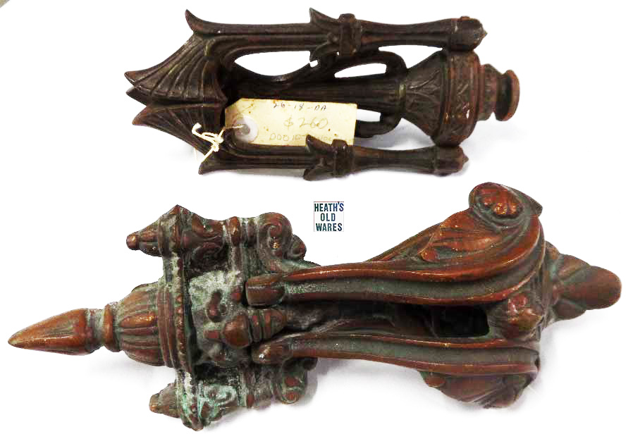 Door Knockers for sale at Heaths Old Wares, Collectables, Antiques & Industrial Antiques, 19-21 Broadway, Burringbar NSW 2483 Ph 0266771181 open 7 days