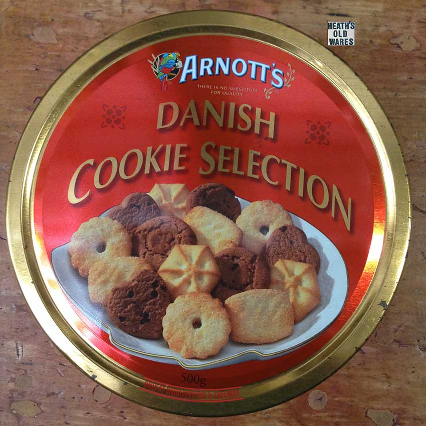 antique and vintage tabacco tea coffee biscuits and chocolate tins for sale at Heaths Old Wares , Collectables Antiques and Industrial Antiques. 19-21 Broadway, Burringbar NSW Open 7 days 9am - 5pm phone 0266771181