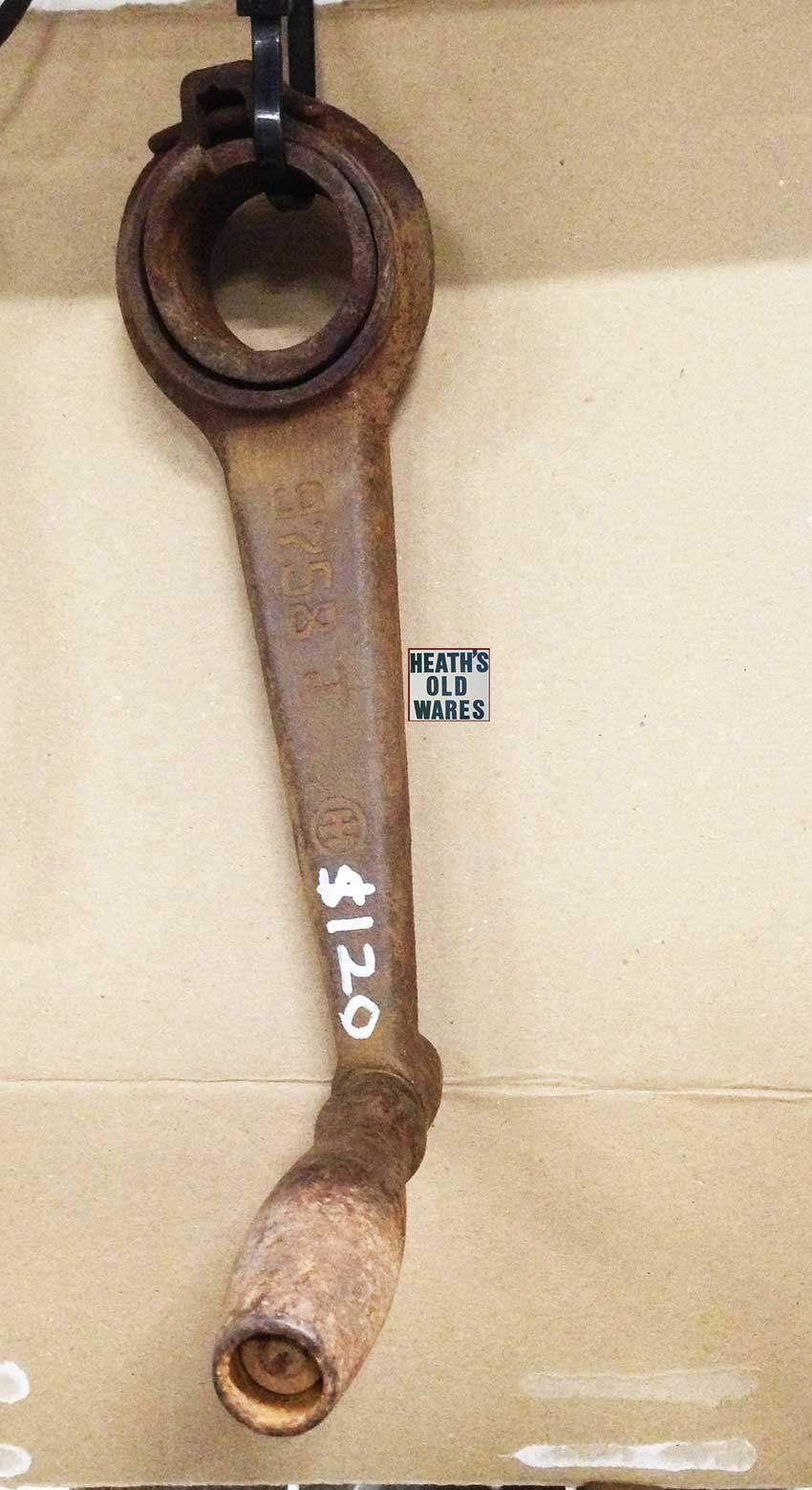 Antique crank handle for sale at Heaths Old Wares, Collectables, Antiques & Industrial Antiques, 19-21 Broadway, Burringbar NSW 2483 Ph 0266771181 open 7 days