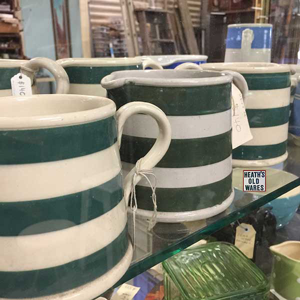 Antique Bakewells and Fowlers Australian pottery jugs for sale at Heaths Old Wares, Collectables, Antiques & Industrial Antiques, 19-21 Broadway, Burringbar NSW 2483 Ph 0266771181 open 7 days