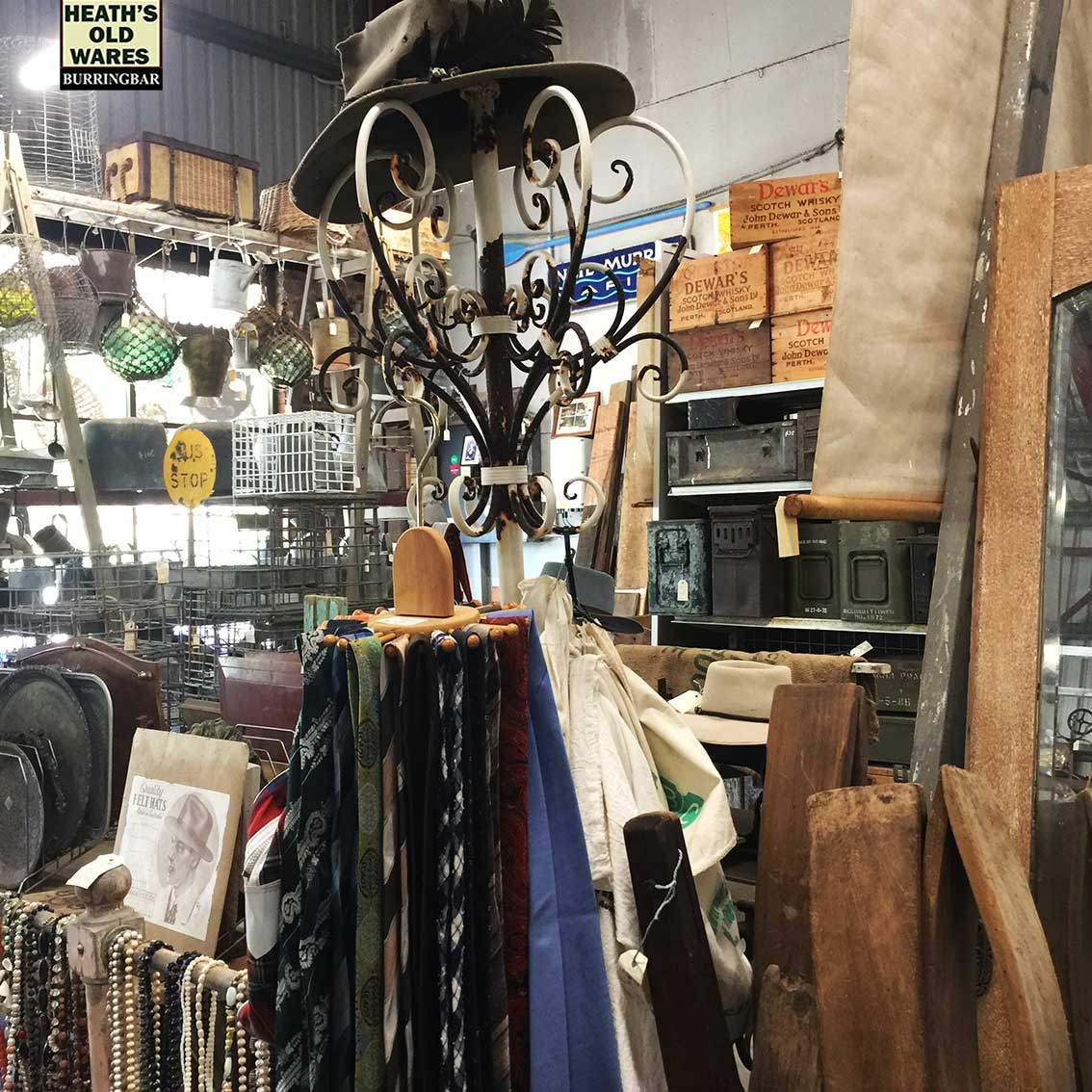 Vintage neck ties for sale at Heaths Old Wares, Collectables, Antiques & Industrial Antiques, 19-21 Broadway, Burringbar NSW 2483 Ph 0266771181 open 7 days