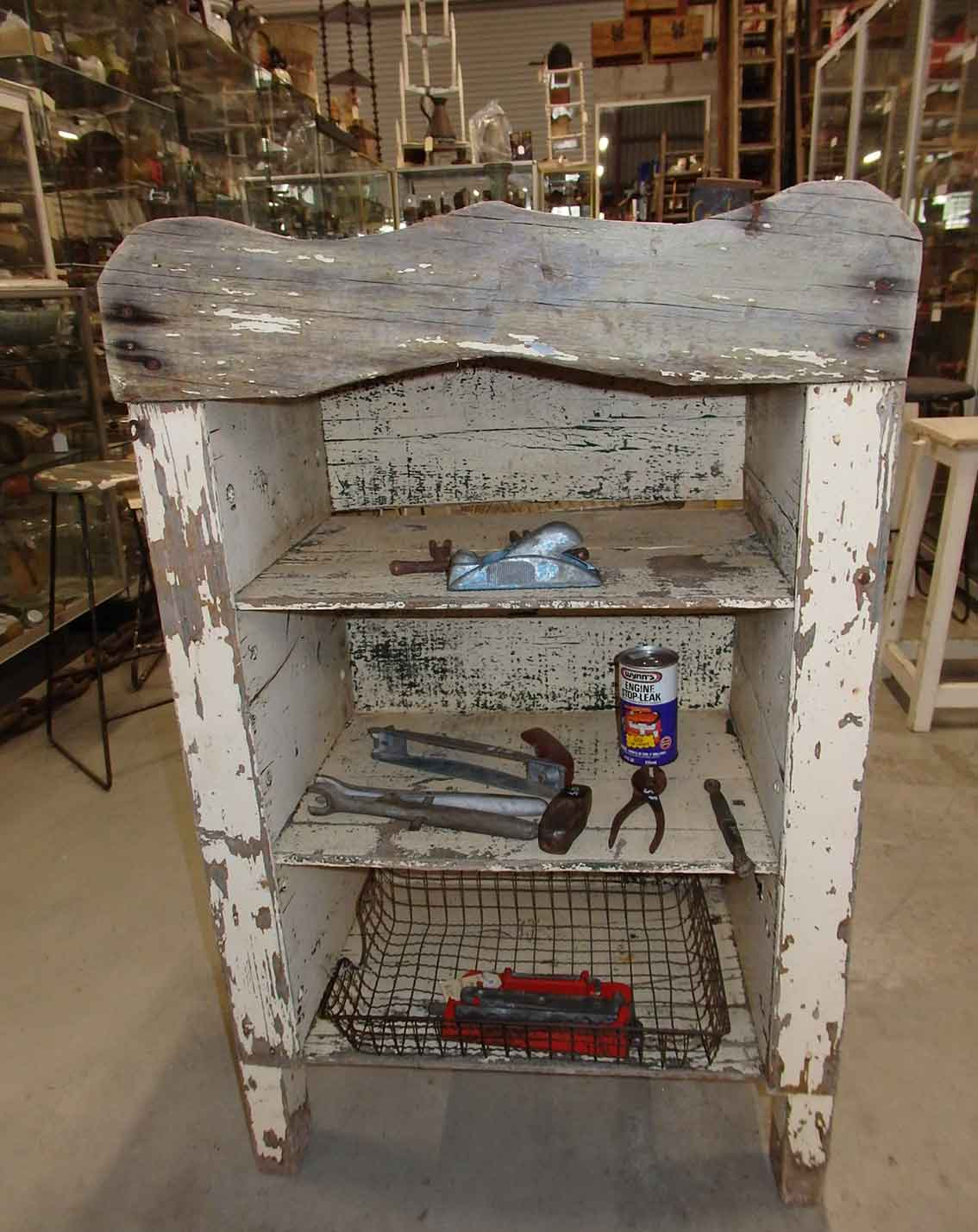 Antique depression kero box cupboard for sale at Heaths Old Wares, Collectables & Industrial Antiques, 19-21 Broadway, Burringbar NSW 2483 Ph 0266771181