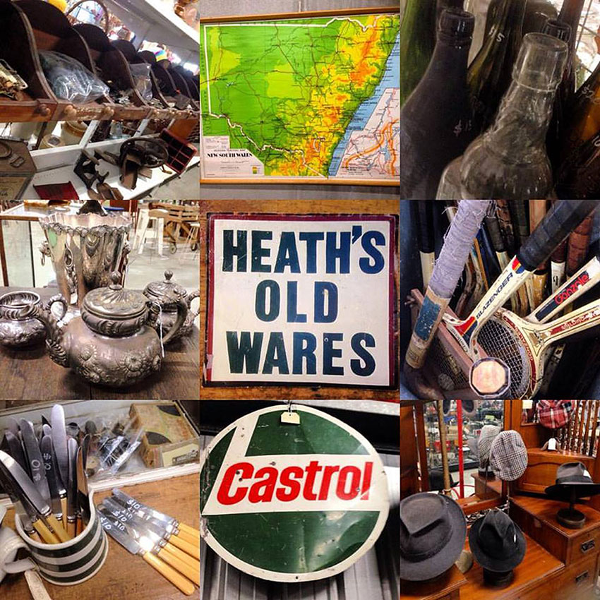 Vintage and antique treasures for sale at Heaths Old Wares, Collectables & Industrial Antiques, 19-21 Broadway, Burringbar NSW 2483 Ph 0266771181