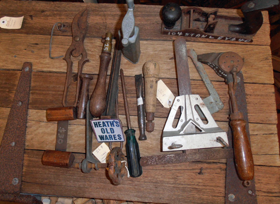 vintage and antique tools, pliers, sawsets, pincers for sale at Heaths Old Wares , Collectables Antiques and Industrial Antiques. 19-21 Broadway, Burringbar NSW Open 7 days 9am - 5pm phone 0266771181